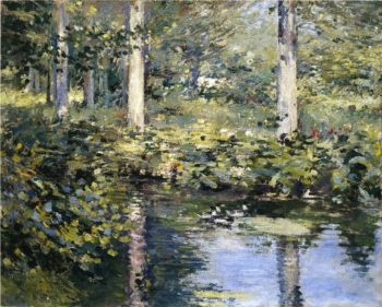 The Duck Pond | Theodore Robinson | oil painting