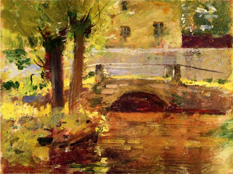 The Bridge at Giverny | Theodore Robinson | oil painting