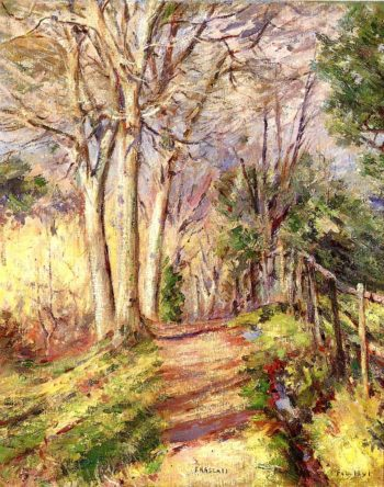 Path in Frascati | Theodore Robinson | oil painting