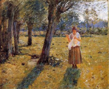 October Sunlight | Theodore Robinson | oil painting