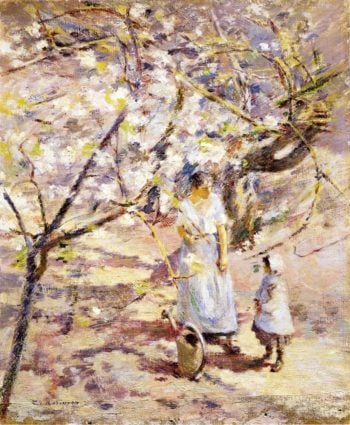 In the Orchard 2 | Theodore Robinson | oil painting