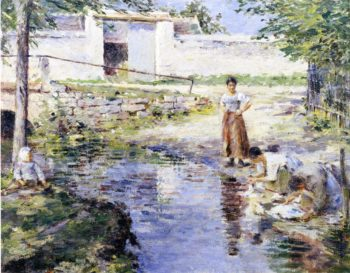 Gossips 2 | Theodore Robinson | oil painting