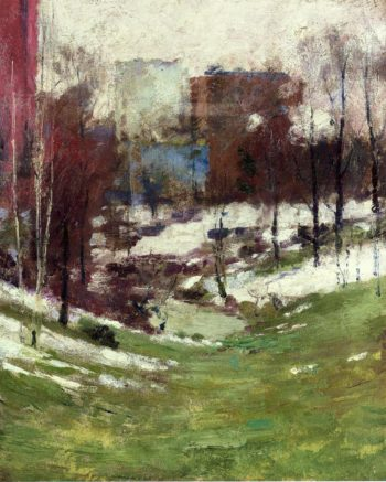 Winter in New York City | Theodore Robinson | oil painting