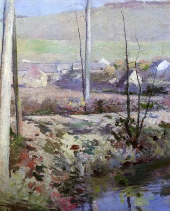 Giverny from the River Epte | Theodore Robinson | oil painting