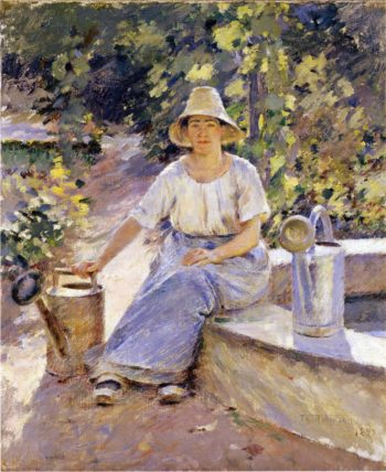Watering Pots | Theodore Robinson | oil painting