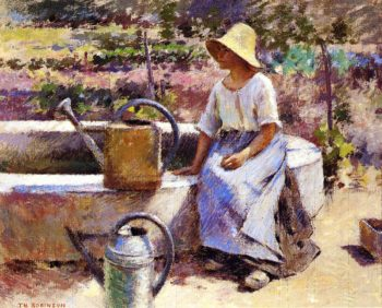 The Watering Pots | Theodore Robinson | oil painting