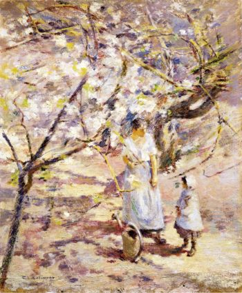 In the Orchard | Theodore Robinson | oil painting