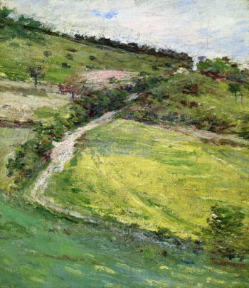 Hillside in Giverny France | Theodore Robinson | oil painting