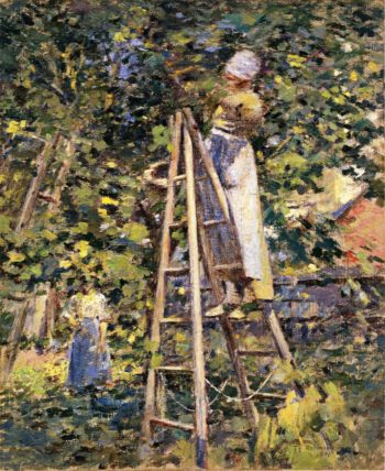 Gathering Plums | Theodore Robinson | oil painting