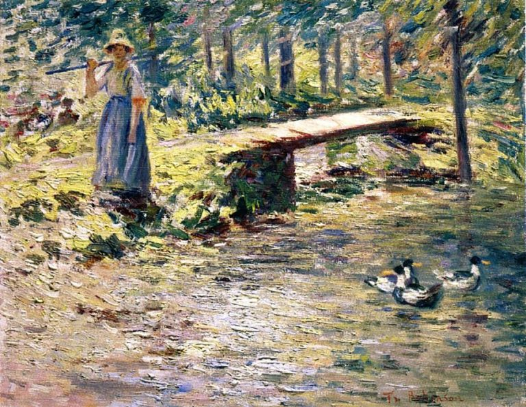 By the Brook | Theodore Robinson | oil painting