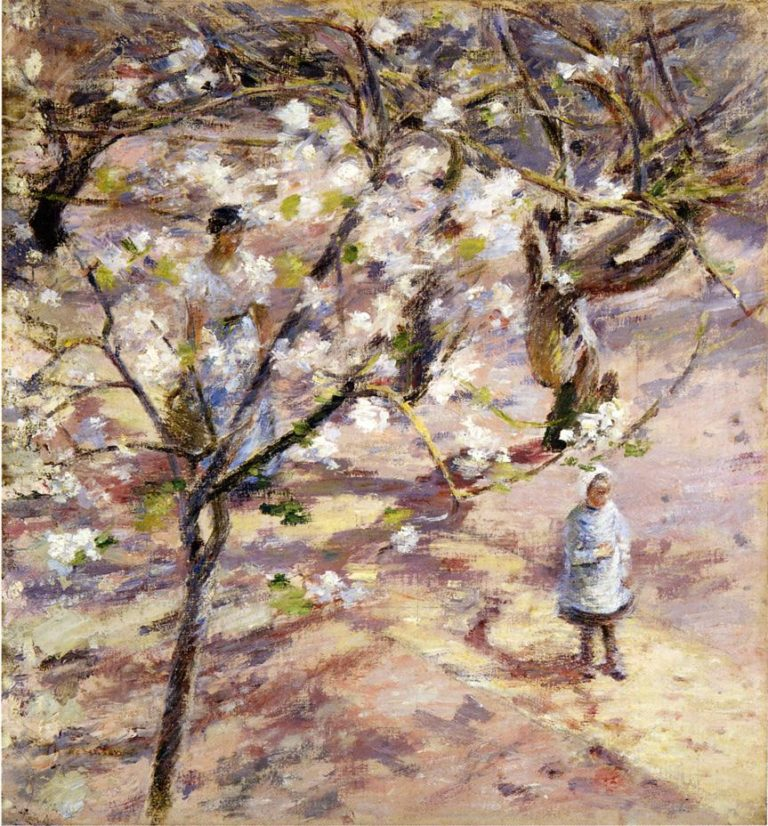Blossoms at Giverny | Theodore Robinson | oil painting