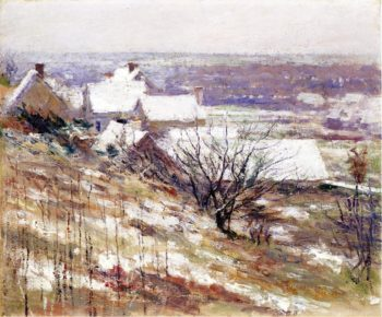 Winter Landscape | Theodore Robinson | oil painting