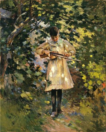 The Young Violinist | Theodore Robinson | oil painting