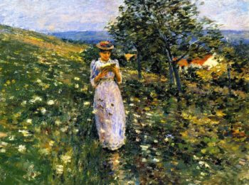 Summer Hilside Giverny | Theodore Robinson | oil painting