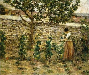 In the Garden | Theodore Robinson | oil painting