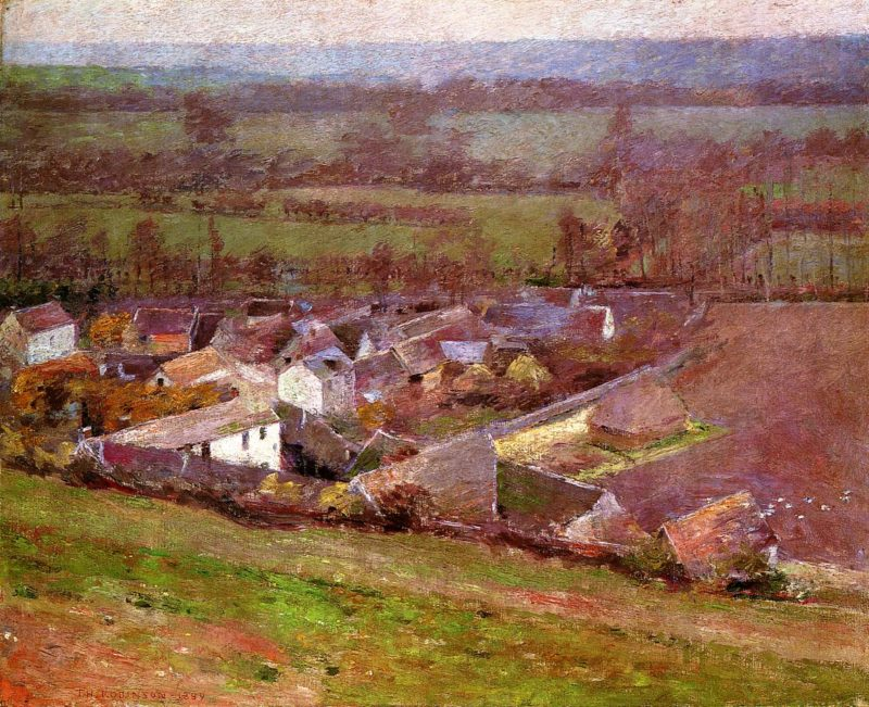Bird's Eye View Giverny | Theodore Robinson | oil painting