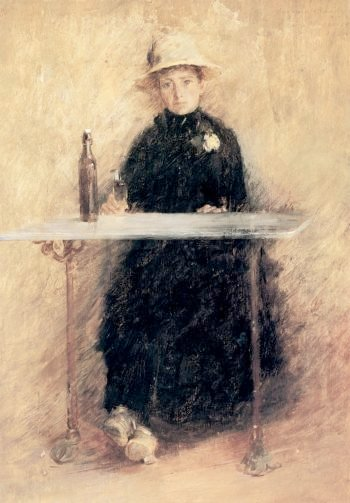 Portrait of Madame Baudy | Theodore Robinson | oil painting
