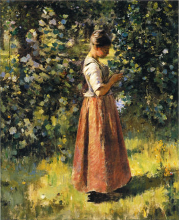 In the Grove | Theodore Robinson | oil painting