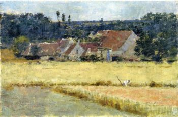 French Farmhouse | Theodore Robinson | oil painting