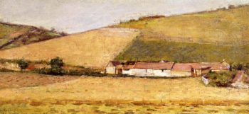 Farm Among Hills | Theodore Robinson | oil painting