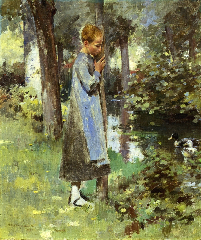 By the River | Theodore Robinson | oil painting