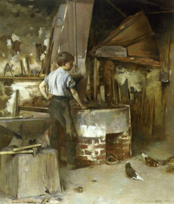 The Forge | Theodore Robinson | oil painting