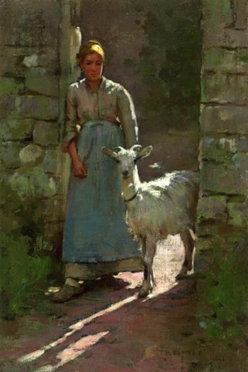 Girl with Goat | Theodore Robinson | oil painting