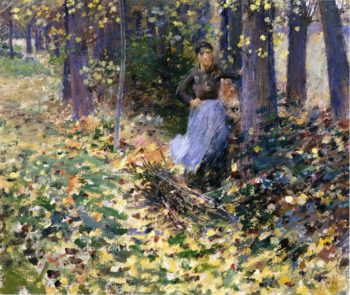 Autumn Sunlight | Theodore Robinson | oil painting