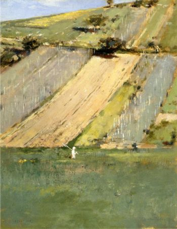 Valley of the Seine Giverny | Theodore Robinson | oil painting