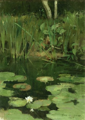 Water Lilies | Theodore Robinson | oil painting