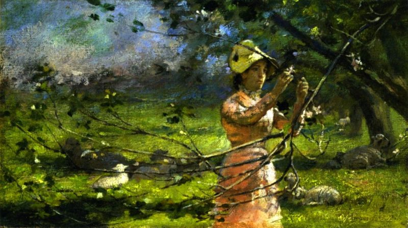 Apple Blossoms | Theodore Robinson | oil painting