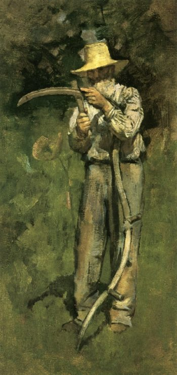 Man with Sythe | Theodore Robinson | oil painting