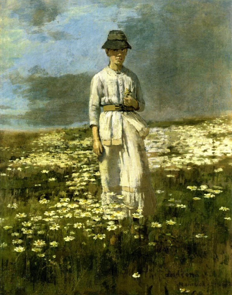 Daisy Field Nantucket | Theodore Robinson | oil painting
