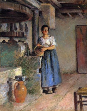 The Miller s Daughter | Theodore Robinson | oil painting