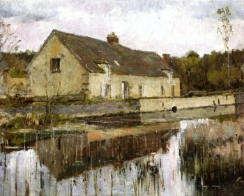 On the Canal | Theodore Robinson | oil painting