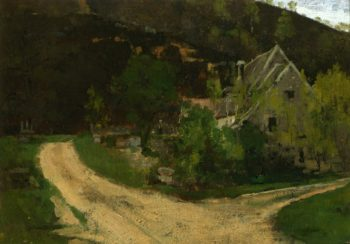French Village | Theodore Robinson | oil painting