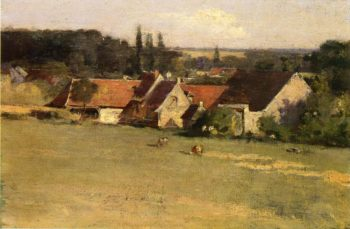 Farmhouse at Grez | Theodore Robinson | oil painting