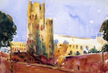 Ely Cathedral | Charles W Hawthorne | oil painting