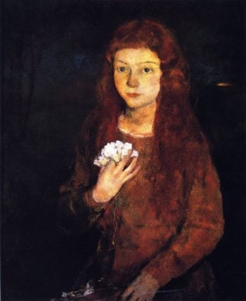 Spring Maiden | Charles W Hawthorne | oil painting