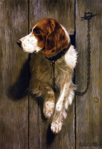 At the Kennel Door | Alexander Pope | oil painting