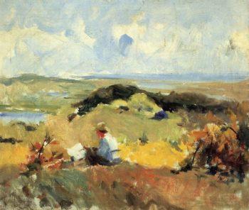 Artist in Plein Air   Charles W Hawthorne   oil painting