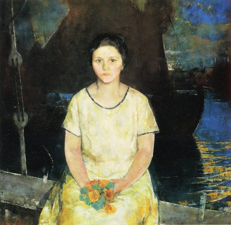The Fisherman's Daughter | Charles W Hawthorne | oil painting