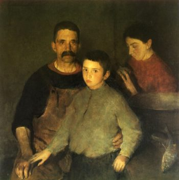 The Family   Charles W Hawthorne   oil painting