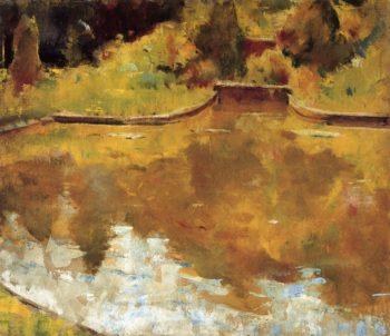 Goldfish Pond   Charles W Hawthorne   oil painting