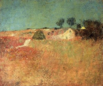 Green Sky Landscape   Charles W Hawthorne   oil painting