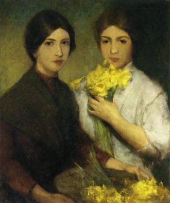 Daffodils   Charles W Hawthorne   oil painting