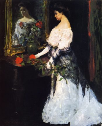 Before the Ball   Charles W Hawthorne   oil painting