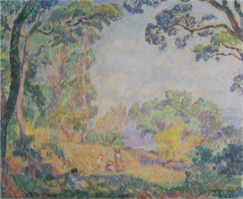 In a Field near the Sea   Henri Lebasque   oil painting