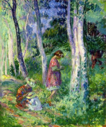 In the Forest the Harvest   Henri Lebasque   oil painting