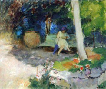 In the Garden   Henri Lebasque   oil painting